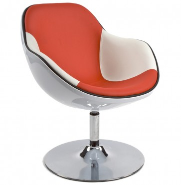 Lounge Fauteuil DAYTONA wit - rood